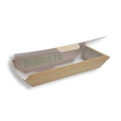 Cutii carton natur meniu aripioare, fish & cips, crispy mari (100buc/set)