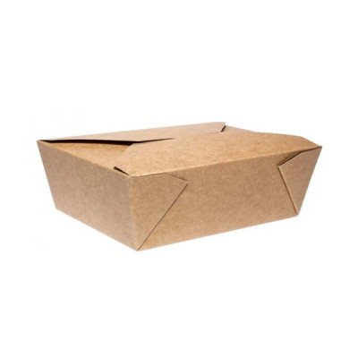 Cutii meniu din carton kraft nature 1300cc (215x160x63) - 1.13 lei/buc (50 buc/set)