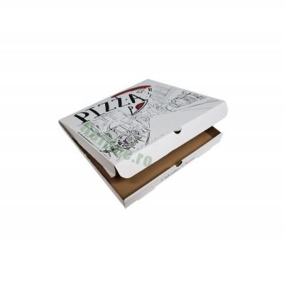 Cutii pizza URBAN albe 25 cm  (100 buc/bax)