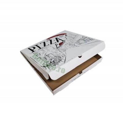 Cutii pizza URBAN albe 28 cm (100 buc/bax)