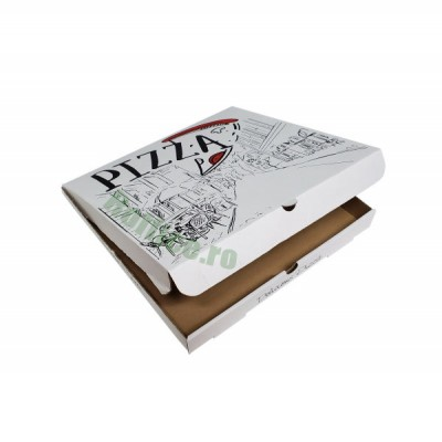 Cutii pizza URBAN albe 30 cm (100 buc/bax)