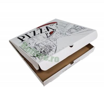 Cutii pizza URBAN albe 40 cm (50 buc/bax)