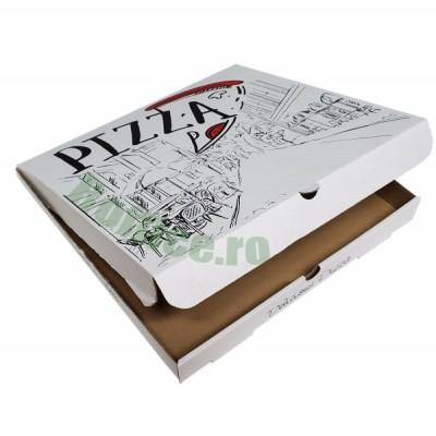 Cutii pizza URBAN albe 50 cm (50 buc/bax)