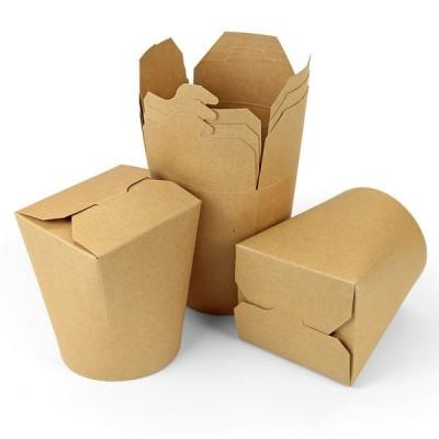 Cutii carton kraft - Paste & Noodles box (50 buc/set)