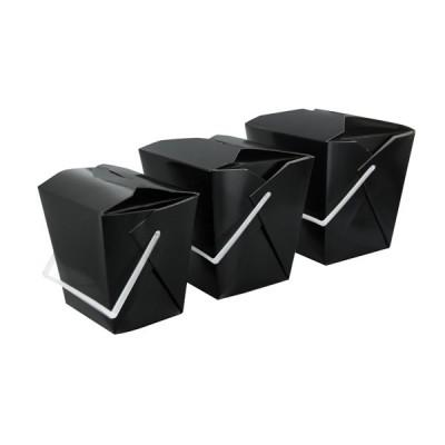 Cutii Paste & Noodles negre cu maner 750 cc - 1.5 lei / buc  (450 buc/bax)