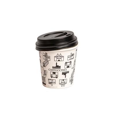 Capace negre pentru pahare din carton 4oz (100buc/set)