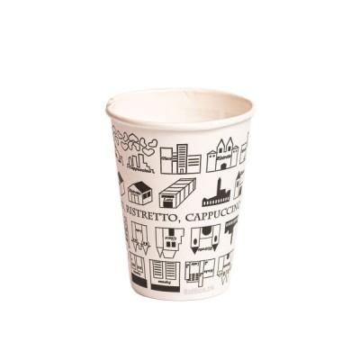 Pahare din carton 7OZ imprimate cu model urban (50buc/set)