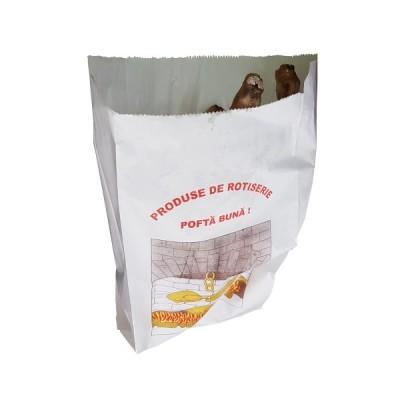 Pungi grill (rotiserie) rezistente la grasimi 12x28 (10 kg - aprox.750 buc)