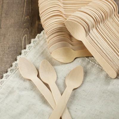 Lingurite din lemn 110mm (100buc)
