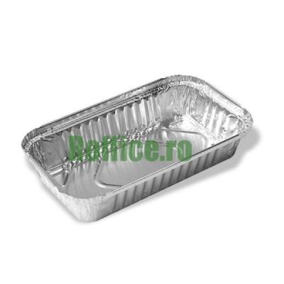 Caserole aluminiu 100L, 205x115. 500 cc (100 buc/set)