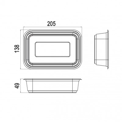 Caserole Limera transparente 750 cc (600buc/bax)
