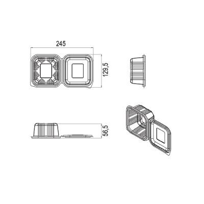 Caserole LIMERA din plastic cu capac atasat 250 cc (1000buc/bax)