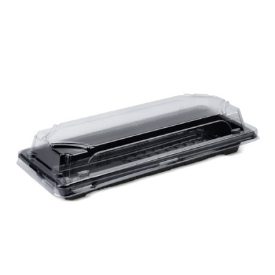 Caserole Sushi negre cu capac LIMERA 218x90x20 (100buc/set)