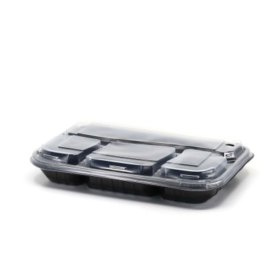 Caserole termorezistente cu 4 compartimente + capac (50 buc/set)
