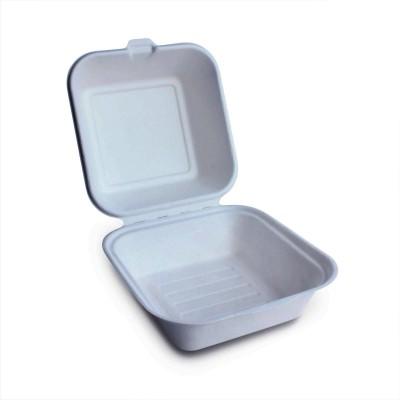 Caserole biodegradabile patrate 460CC hamburger 150x155x85mm (50buc/set)