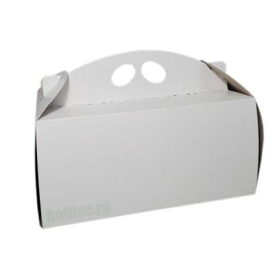 Cutii carton albe pentru cozonaci (50buc/set)