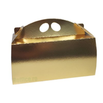 Cutii carton aurii pentru cozonaci (50buc/set)