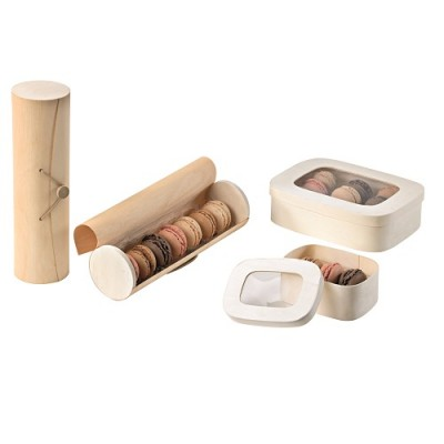 Cutii lemn 7 macarons 23x6.5x6.5 (50 buc)