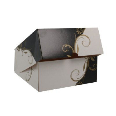 Cutii negru cu alb cu capac 18x18x8 (50buc)