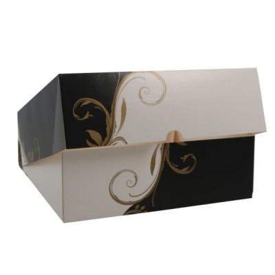 Cutii negru cu alb cu fereastra 23x23x8 (50buc)