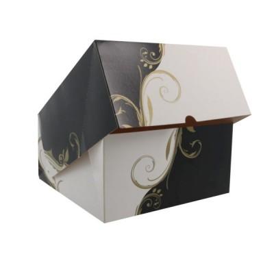 Cutii negru cu alb cu fereastra 24x24x12 (50buc)