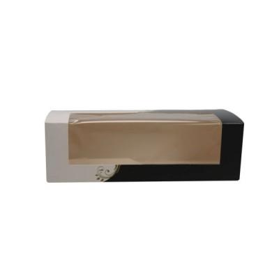 Cutii negru cu alb cu fereastra 26x11x8 (50buc)