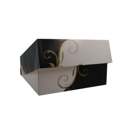 Cutii negru cu alb cu fereastra 28x28x10 (50buc)