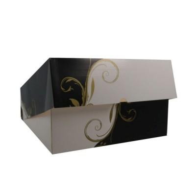 Cutii negru cu alb cu fereastra 32x32x10 (50buc)