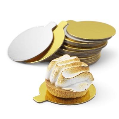 Discuri aurii carton 7 cm Italia (200 buc/set)