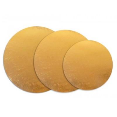 Discuri aurii carton 16 cm (50 buc/set)