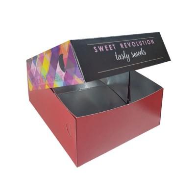 Cutii prajituri Tasty Sweets 25x25x8 (70buc)