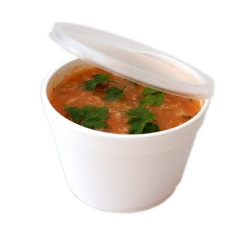 Bol supa polistiren  500 ml + Capac - 0.37 lei buc (500 buc/bax)